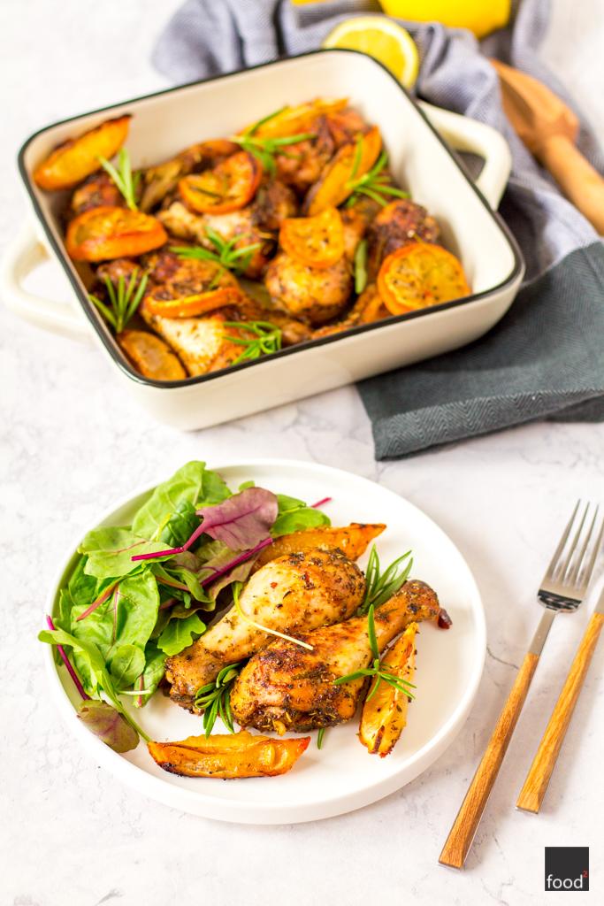 Udka Z Kurczaka Z Cytryna I Rozmarynem Food